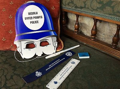 Dyfed Powys Police Cardboard Face Mask/bookmark/ruler/eraser/pen Say No Never Go