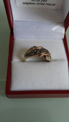 """Art Deco, 9k gold ring, size M""."