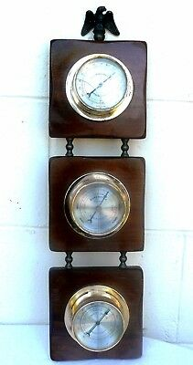 Weather Station Thermometer Barometer Hygrometer - Springfield Instrument Co USA