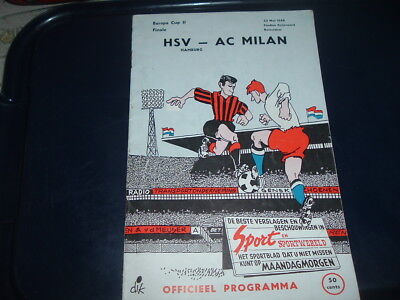 1968 European Cup Winners Cup Final AC Milan v HSV Hamburg