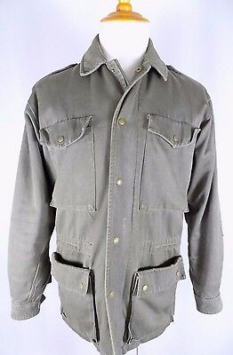 Banana Republic Men's Vintage Olive Army Green Distressed Jacket M Medium VGUC