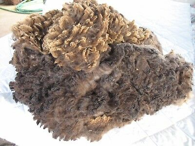 Corriedale X English Leicester Lamb Fleece - Very Dark Grey/Black - 2Kg.