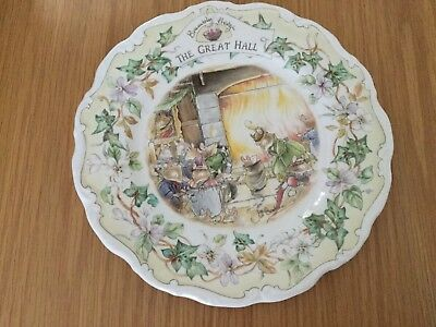 Royal Doulton Brambly Hedge Plate  The Great Hall 1st Quality