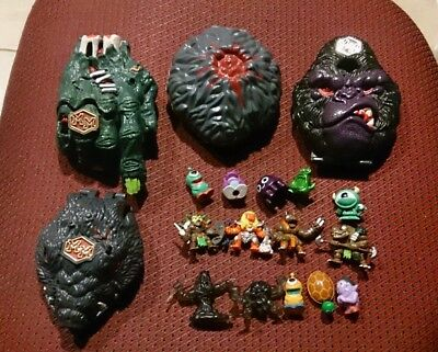 4 MM MIGHTY MAX Mini Monsters Minimonsters Pollypocket 4Boy Gorilla Tomb TOY LOT