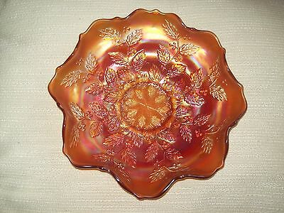 Vintage  Fenton Holly Pattern Iridecsent Carnival Glass Plate