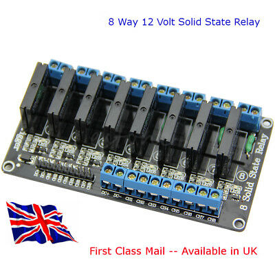 Solid-State Relay 12v 8 Channel SSR - Suit all projects 2 Amp - Available In UK