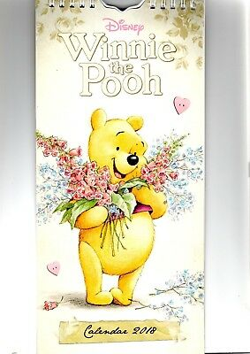 Wall Hanging Winnie the Pooh Slim Calendar 2018  Month by month to View