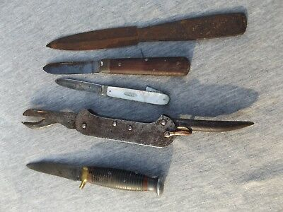 Collection of vintage knives,military,silver, Rogers etc