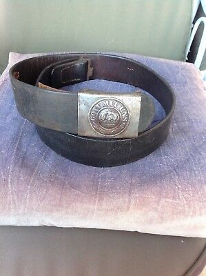 WWI German prussian combat bel and iron Buckle marked 1917