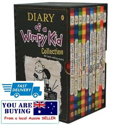 Diary of a Wimpy Kid Collection Pack 1-10 By Jeff Kinney - RRP $149.95