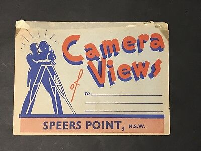 Vintage Photo View Postcard Folder SPEERS POINT,NSW Murray Views No CCV4037
