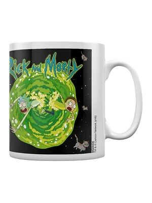 Rick and Morty Kaffeebecher Floating Cat Dimension weiß