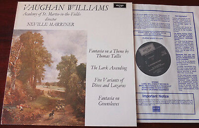 Zrg 696 V Williams Lark Ascending Tallis Greenseeves Lp Marriner Nm Holland (Re)