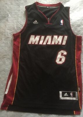 Vintage Lebron James Miami Heat Adidas Basketball Jersey Size Small