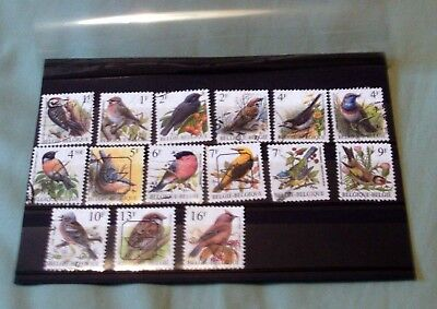 15 BELGIUM FINE USED STAMPS DEPICTING BIRDS, 1f - 16f, GOOD SELECTION.