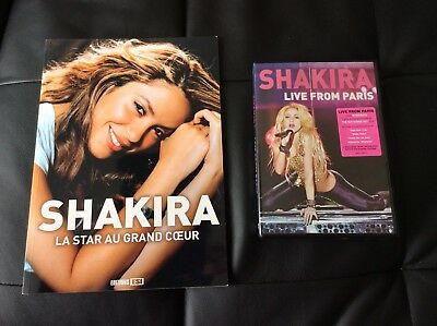 Lot Shakira Livre Book La Star Au Grand Cœur + DVD Live From Paris Rare