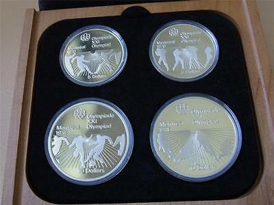 Canada. 1976 4 Pce Silver - Olympic Proof Set. (Series 6)  4-335oz ASW . Cased