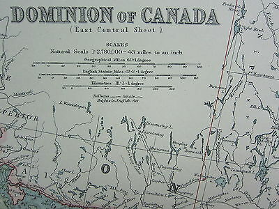 1910 Map ~ Dominion Of Canada East Central Sheet Ontario Quebec