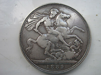 Victoria Crown 1889 Sterling Silver