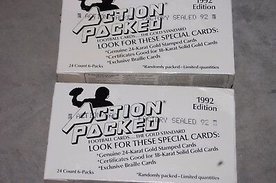 1992 Action Packed NFL Football Box Factory Sealed / 2 Box Lot