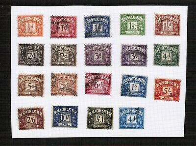 Great Britain selection of pre decimal postage dues used