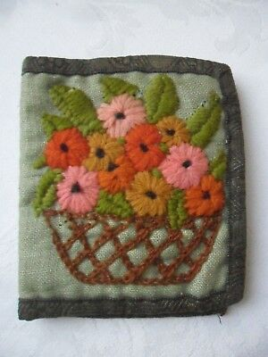Hand-Made Embroidered Vintage Needlecase