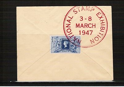 GB 1947 National Stamp Exhibition label used on cover