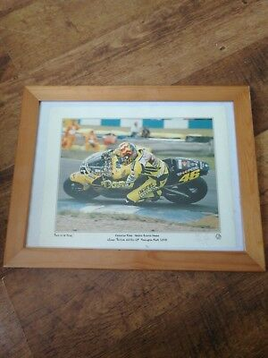 Limited Edition Valentino Rossi Signed AUTOGRAPH winner! Donington park 2001