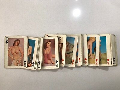 1950s Original Nude/Topless Playing Cards Full Set