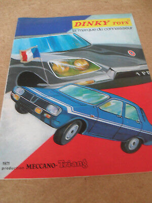 French Dinky Toy Catalogue 1971 Edition Excellent Condition For Age