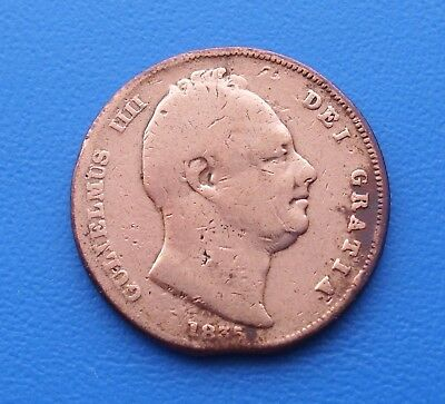 1835 Old Copper Farthing Circulated