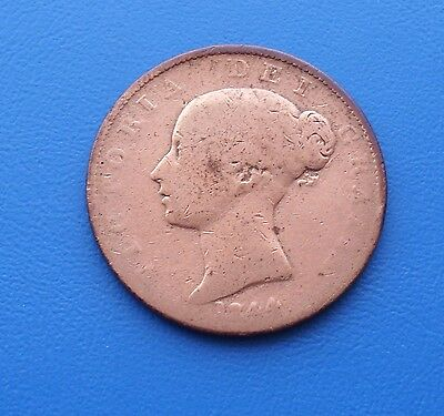1844 Old Copper Penny Circulated