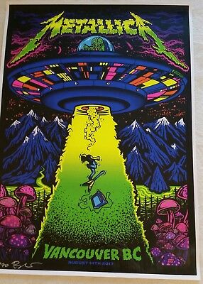 Metallica Vancouver BC AP #37/70 Signed Poster (Ames Bros)
