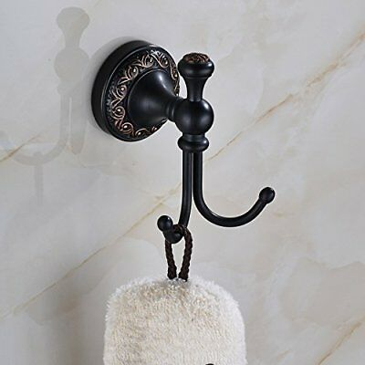 Rozin Wall Mounted Bath Towel Hook Clothes Robe Hanger Oil Rubbed Bronze