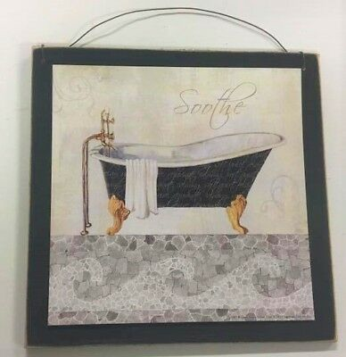 spa bathroom decor Soothe black white bathroom wall art sign bath decorations