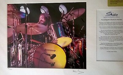 Signed Led Zeppelin John Bonham Knebworth Limited Edition Photo Autographed