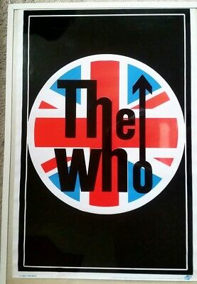 New. The Who Flocked Black Light Poster. Scorpio.#1883