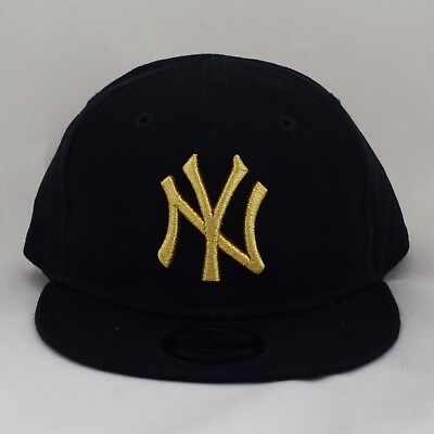4a587ff2453 New Era Kids Infant 9Fifty Gold on Navy Adjustable Snapback Baby Cap Hat