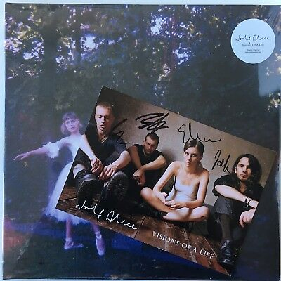 """WOLF ALICE Visions Of A Life 2xLP + 7"""" DELUXE WHITE VINYL w/ SIGNED ART PRINT"""