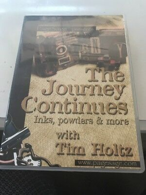 Tim Holtz The Journey Continues Inks, Powders And More DVD