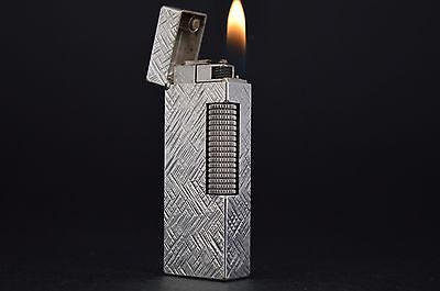 Dunhill Lighter Rollagas Serviced Working Vintage New O-rings Switzerland #456