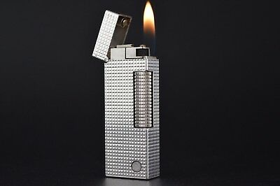 Dunhill Lighter Rollagas Serviced Working Vintage New O-rings Switzerland #551