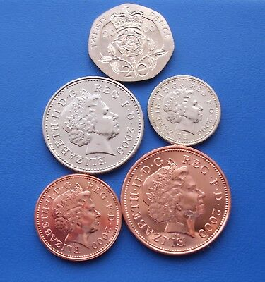 2000 20P 10P 5P 2P And 1P Coins Brilliant Uncirculated