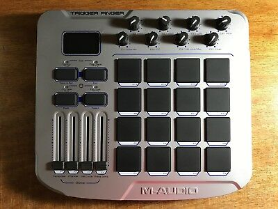 M-Audio Trigger Finger 16 Pad Midi Drum Controller W/ USB Cable & Software NICE!
