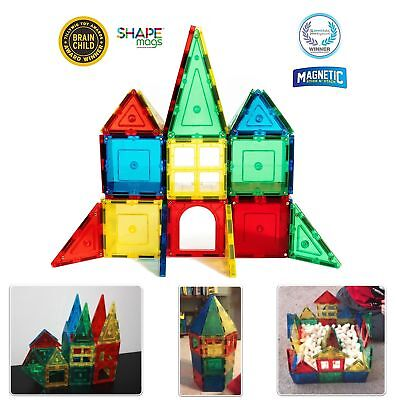 Magnets Building Magnetic Tiles 32 Pc Blocks Toy Educational Learning Kids Game