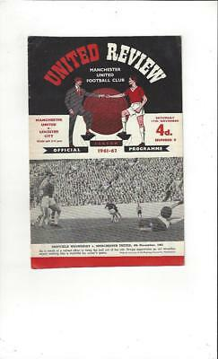 Manchester United v Leicester City 1961/62 Football Programme