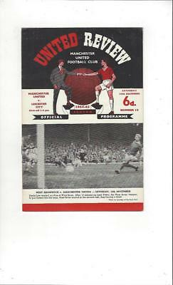 Manchester United v Leicester City 1964/65 Football Programme Dec