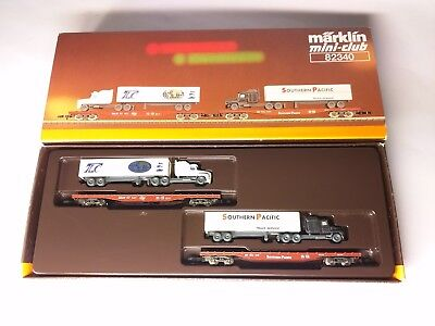 Spur Z Scale 1:220 Marklin 82340 American Flat Cars with Loads One-time **Rare