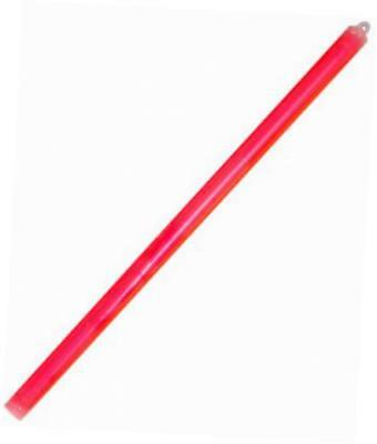 """chemlight military grade chemical light baton with 1 end ring, 15"""" length, red"""