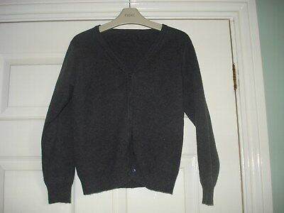 Girls Marks and Spencer School grey cardigan Age 9-10